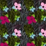 Sömlös modell för blommor Royaltyfri Foto