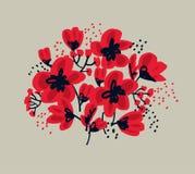 Sömlös modell för blomning för yttersidadesign vektor illustrationer
