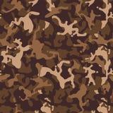 Sömlös modell för brun beige kamouflage Modern militär camotextur Öken som maskerar färg royaltyfri illustrationer