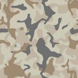 Sömlös modell för brun beige kamouflage Modern militär camotextur Öken som maskerar färg vektor illustrationer