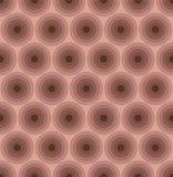Sömlös modell för brun cirkel för färg geometrisk stock illustrationer
