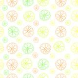 Sömlös modell för citrus citronlimefruktvektor på vit vektor illustrationer