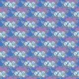Sömlös modell för delikata blåa rosor, bukett av blommor på en rosa bakgrund, vattenfärgillustration Textildesign för printin vektor illustrationer