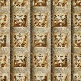 Sömlös modell för egyptier 3d Afrikansk etnisk guld- kontrollbackgr royaltyfri illustrationer