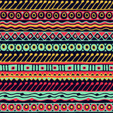Sömlös modell för etnicitet Boho stil etnisk wallpaper Stam- konsttryck Gammalt abstrakt begrepp gränsar bakgrundstextur Royaltyfri Bild