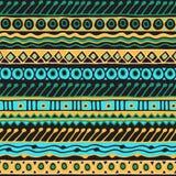 Sömlös modell för etnicitet Boho stil etnisk wallpaper Stam- konsttryck Gammalt abstrakt begrepp gränsar bakgrundstextur Royaltyfria Bilder