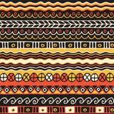Sömlös modell för etnicitet Boho stil etnisk wallpaper Stam- konsttryck Gammalt abstrakt begrepp gränsar bakgrundstextur Arkivbild