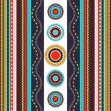 Sömlös modell för etnisk boho Färgrik gränsbakgrundstextur Arkivfoto