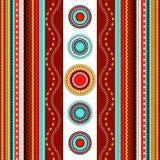 Sömlös modell för etnisk boho Färgrik gränsbakgrundstextur Arkivfoton