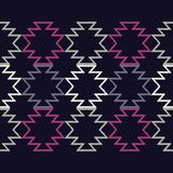 Sömlös modell för etnisk boho Kläcka för hand traditionell prydnad geometrisk bakgrund stam- modell Folk motiv Royaltyfria Foton