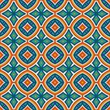 Sömlös modell för etnisk stil med blom- motiv Bakgrund för ljusa färger för tappning abstrakt stam- prydnad royaltyfri illustrationer