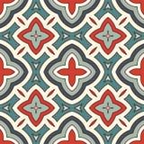 Sömlös modell för etnisk stil med blom- motiv Bakgrund för pastellfärgade färger för tappning abstrakt stam- prydnad vektor illustrationer