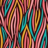 Sömlös modell för färgrik abstrakt vektor för hand utdragen krabb Djur hud f?r sebra Moderiktigt modetryck royaltyfri illustrationer