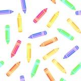 Sömlös modell för färgrik blyertspenna Royaltyfri Foto