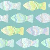Sömlös modell för färgrik fisk Royaltyfria Bilder