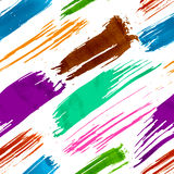 Sömlös modell för färgrik grunge stock illustrationer