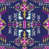 Sömlös modell för färgrik Navajo abstrakt geometriskt tryck för aztec Etnisk hipsterbakgrund Aztec stätta, stam- konst Använt för Arkivbilder