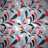 Sömlös modell för färgrik Retro stil royaltyfri illustrationer