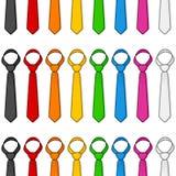 Sömlös modell för färgrik slips Arkivbilder