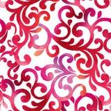 Sömlös modell för färgrik vattenfärg Dekorativ prydnadbackdr arkivfoto