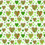 Sömlös modell för färgrik vektor av härliga hjärtor De bästa för dag, bröllop och födelsedag för valentin` s planlägger stock illustrationer