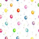 Sömlös modell för färgrika glansiga ballonger royaltyfri bild