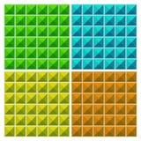 Sömlös modell för färgrika trianglar royaltyfri illustrationer