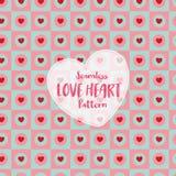 Sömlös modell för förälskelsehjärta på romantisk pastellfärgad färg också vektor för coreldrawillustration stock illustrationer