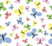 Sömlös modell för fjärilar stock illustrationer