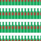 Sömlös modell för flaska, modell med vinflaskor Flaska för vektorillustrationbakgrund stock illustrationer