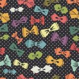 Sömlös modell för fluga Bakgrund för Polkaprick royaltyfri illustrationer