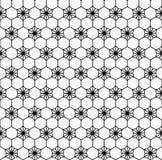 Sömlös modell för geometrisk blomma Arkivfoto