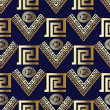 Sömlös modell för geometrisk modern vektor blått modernt för bakgrund royaltyfri illustrationer