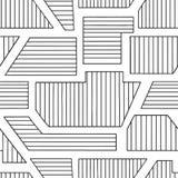 Sömlös modell för geometrisk vektor med olika geometriska former Randig fyrkant, triangel, rektangel Minsta des för modern techno stock illustrationer