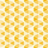 Sömlös modell för geometriska orange triangelprickar Fotografering för Bildbyråer