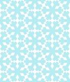 Sömlös modell för geometriska snöflingor Dekorativ bakgrund för vinterjul Illustration för snönedgångflingor royaltyfri illustrationer