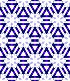 Sömlös modell för geometriska snöflingor Dekorativ bakgrund för vinterjul Illustration för snönedgångflingor vektor illustrationer