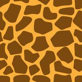Sömlös modell för giraffhudtextur vektor illustrationer