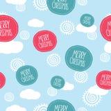 Sömlös modell för glad jul Arkivbild