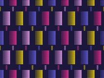 Sömlös modell för glasspopkonst Prickar mång--färgas, pruckit vektor vektor illustrationer