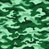 Sömlös modell för grön monokrom kamouflage vektor stock illustrationer