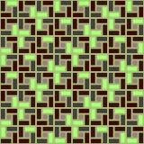 Sömlös modell för grön textur för tegelstenspiraltegelplatta medurs Stock Illustrationer