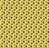 Sömlös modell för gul rolig vektor med solrosfrö stock illustrationer