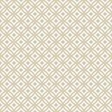 Sömlös modell för guld- abstrakta diamanter Vektorguld och vitbakgrund stock illustrationer