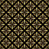 Sömlös modell för guld- fransk lilja också vektor för coreldrawillustration Svart vit mall var kan olik blom- använd illustration Royaltyfri Foto