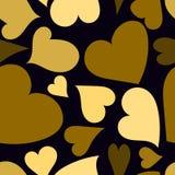 Sömlös modell för guld- hjärtor Royaltyfri Bild