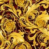 Sömlös modell för guld- kedjor Lyxig illustration Guld- snöra åt Lyxig design tappningrikedom stock illustrationer
