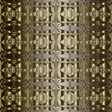 Sömlös modell för guld- utsmyckad vektor för grek 3d geometrisk 3d Dekorativ texturerad randig bakgrund Dekorativt abstrakt begre stock illustrationer