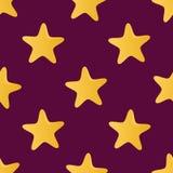 Sömlös modell för gullig vektor (belägga med tegel) som göras av stjärnor Royaltyfri Foto