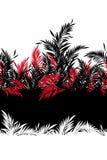 Sömlös modell för härligt tropiskt blad i vektor, royaltyfri illustrationer